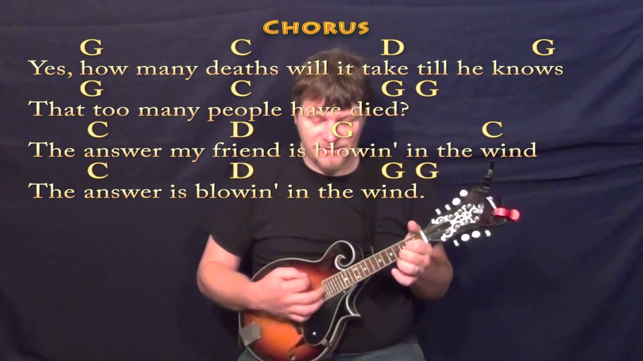 Blowin in the wind dylan mandolin cover in g with chordslyrics blowin in the wind dylan mandolin cover in g with chordslyrics hexwebz Images