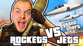 ROCKETS VS JETS!! - GTA V FUNNY MOMENTS!! #1