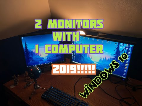 NEW 2019! How To Connect 2 Monitors To One PC | Windows 10