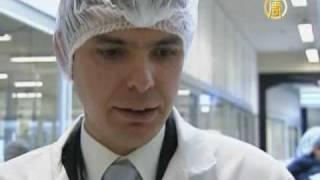 На французской фабрике по производству вакцины H1N1(Французский производитель вакцины H1N1 открыл двери для посетителей. Фабрика каждую неделю производит милли..., 2009-10-21T13:41:28.000Z)