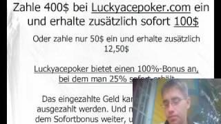 Luckyacepoker 100$ Bonus gratis und sofort erhalten. Mit Beratung für Onlinepoker (Skype + Mail)