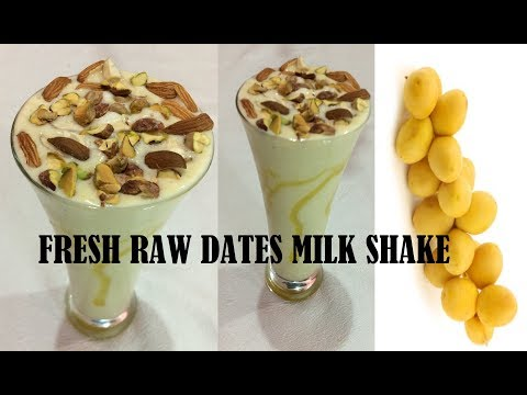 FRESH RAW DATES MILK SHAKE