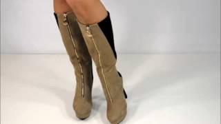видео Зимние сапоги на каблуке