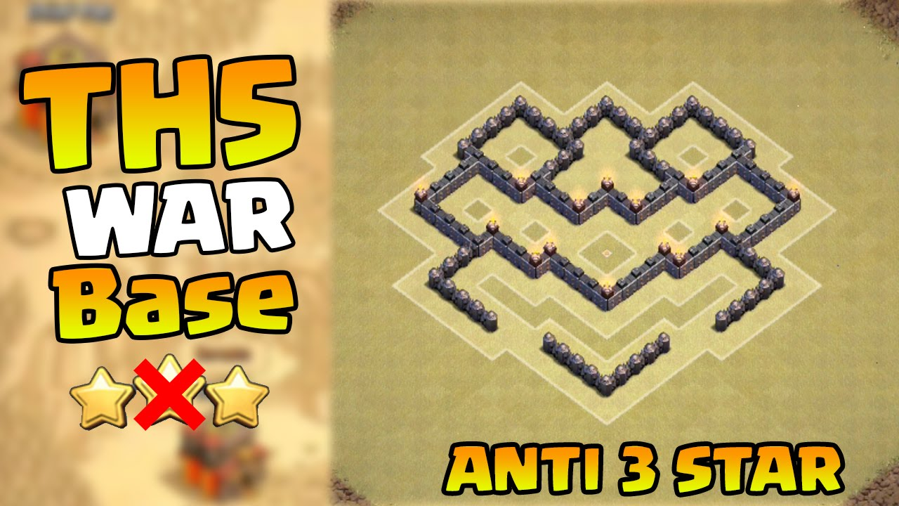 Of clans best town hall 5 war base coc th5 war base layout defense