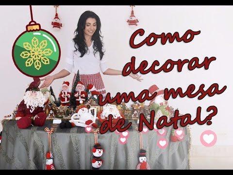 Como decorar uma mesa de natal l programa antonia for Programa para decorar