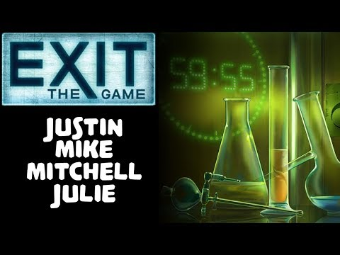 EXIT: THE GAME | THE SECRET LAB | Justin, Mike, Mitchell, Julie