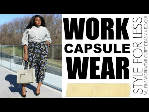Fall Work Outfit Ideas Clothing Capsule Plus Size Fashion