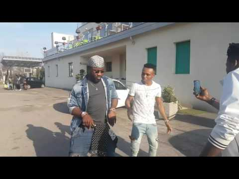 HARRYSONG AND HUMBLESMITH DANCING TO ATTRACTA IN ITALY.