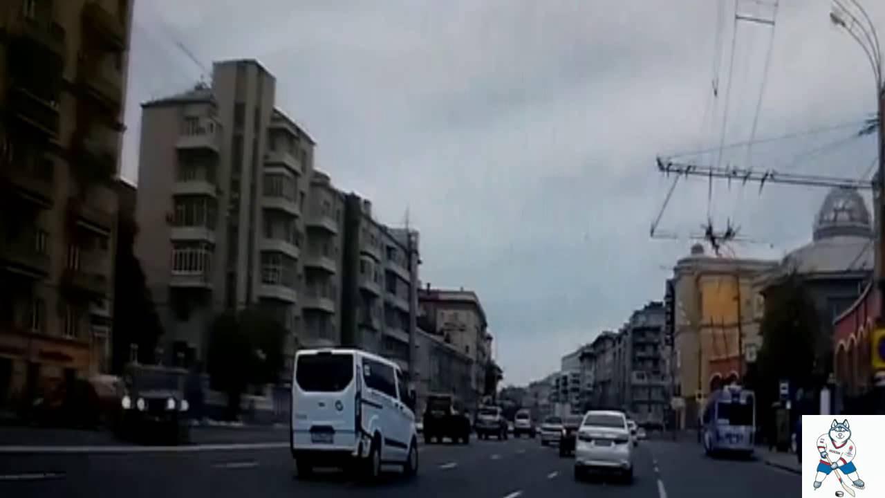 Крупная авария на Садовом кольце в Москве 28.06.16