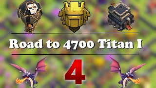 TH9 in Titan above 4600 cups attacks TH10 | Clash of Clans | Road to 4700 cups #4 | Quantum´s Web