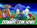 Super Smash Bros 4 - Zerando com Sonic e liberando o Dark Pit