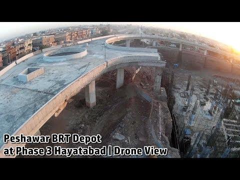 BRT Peshawar Phase 3 Depot Full Drone View only | Construction at Hayatabad