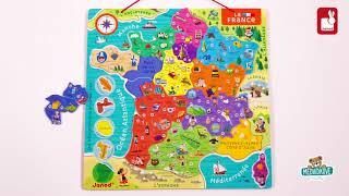 Magnetická mapa Francie France Map Magnetic Janod