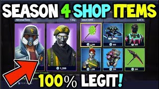 *ALL* FORTNITE SEASON 4 SHOP ITEMS + COSMETICS - LEAKED ITEMS COMING TO FORTNITE BATTLE ROYALE!