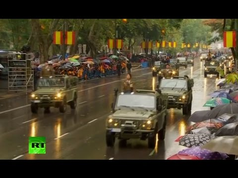 Military parade in Madrid on National Day