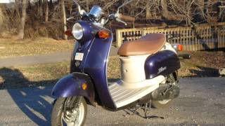 2002 Yamaha Vino Scooter Tour, Engine Startup & Exhaust