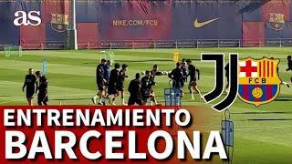 CHAMPIONS LEAGUE | Último entrenamiento del BARCELONA antes de enfrentarse a la JUVENTUS | Diario AS