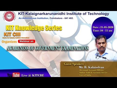 Awareness of Government Examinations - Webinar 21-05-2020