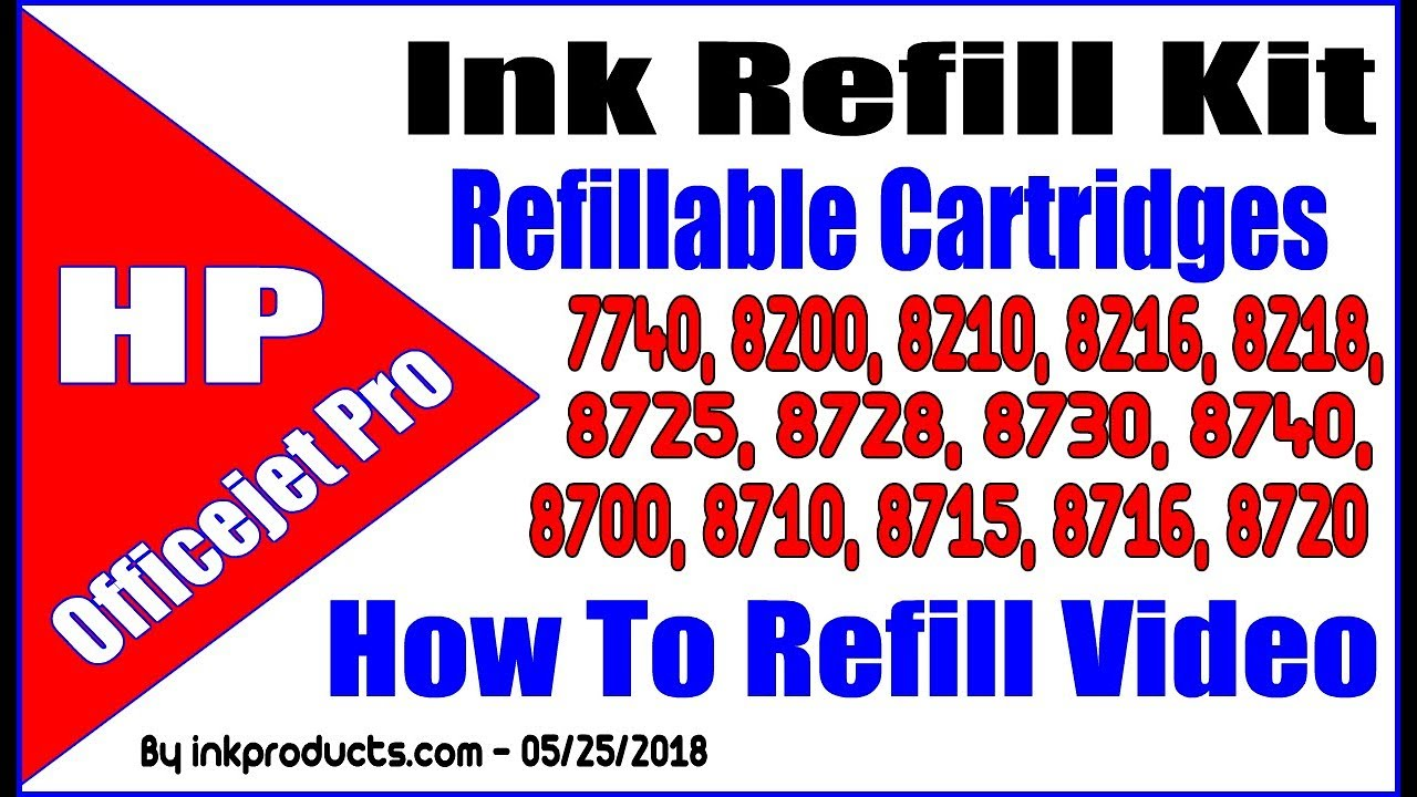 Ink Refill Kit For HP 952 Cartridges With Refillable Cartridges