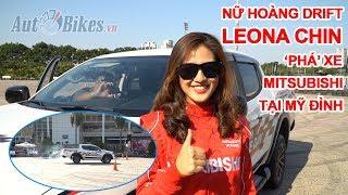Phấn khích với nữ hoàng drift Leona Chin 'phá' xe Mitsubishi tại Mỹ Đình