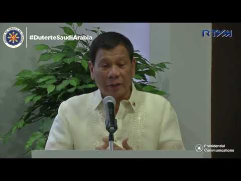 Speech   Pres. Duterte Meeting with Philippines-Riyadh Chamber of Commerce