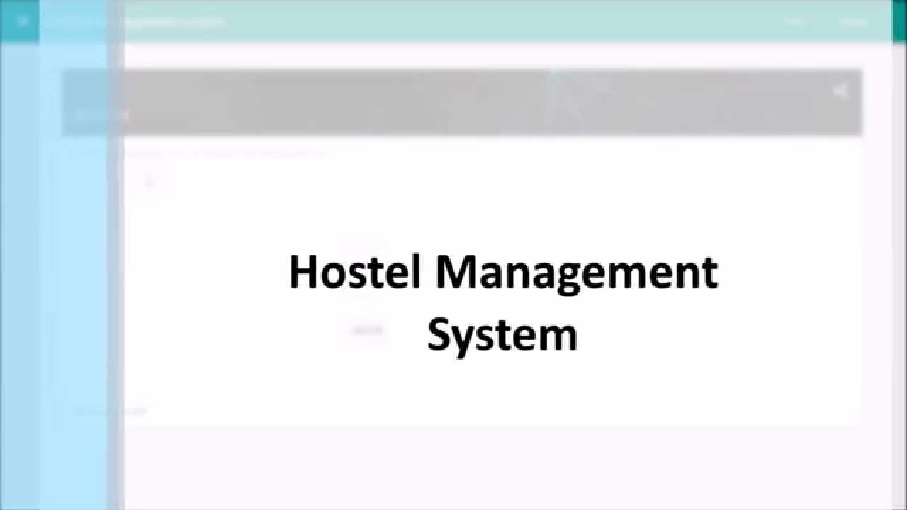 conclusion of hostel management system Hostel management systems can support large numbers of people whileproviding less resources than traditional hotels however there areless profits to be made share to: categories.