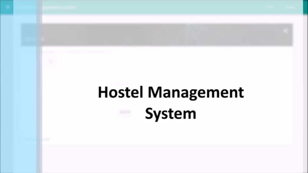 hostel management system er diagram bunsen burner labeled project django youtube