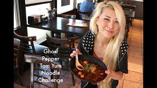 Ghost Pepper Tom Yum Spicy Noodle Challenge |ft. Taran | Dozen Donut Challenge | RainaisCrazy
