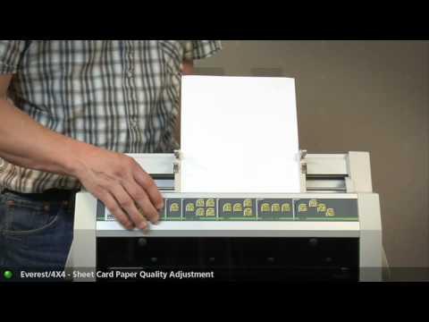 Everest/4X4 PRO V3 -  Sheet / card paper quality exchange
