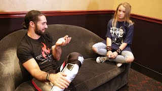 seth rollins grants lizzys wish in los angeles
