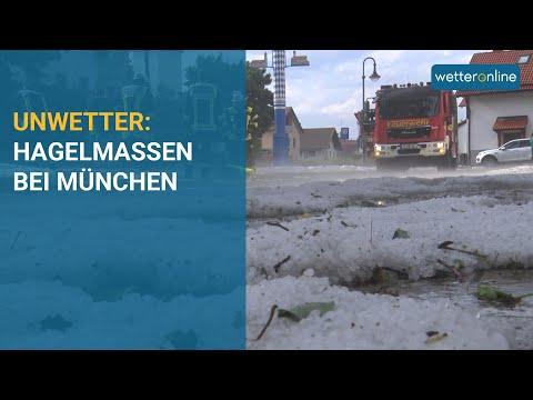 Unwetter: Hagelmassen bei München (23.06.2021)