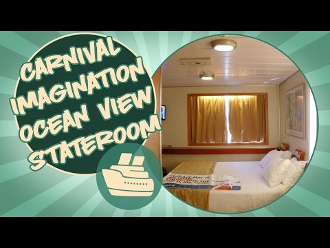 Carnival Stateroom Tour - Carnival Imagination Ocean view stateroom