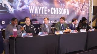 DILLIAN WHYTE v DERECK CHISORA - THE FULL EXPLOSIVE UNCUT PRESS CONFERENCE (VERY STRONG LANGUAGE)