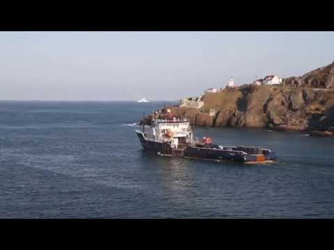 Supply Ship Leaving Port