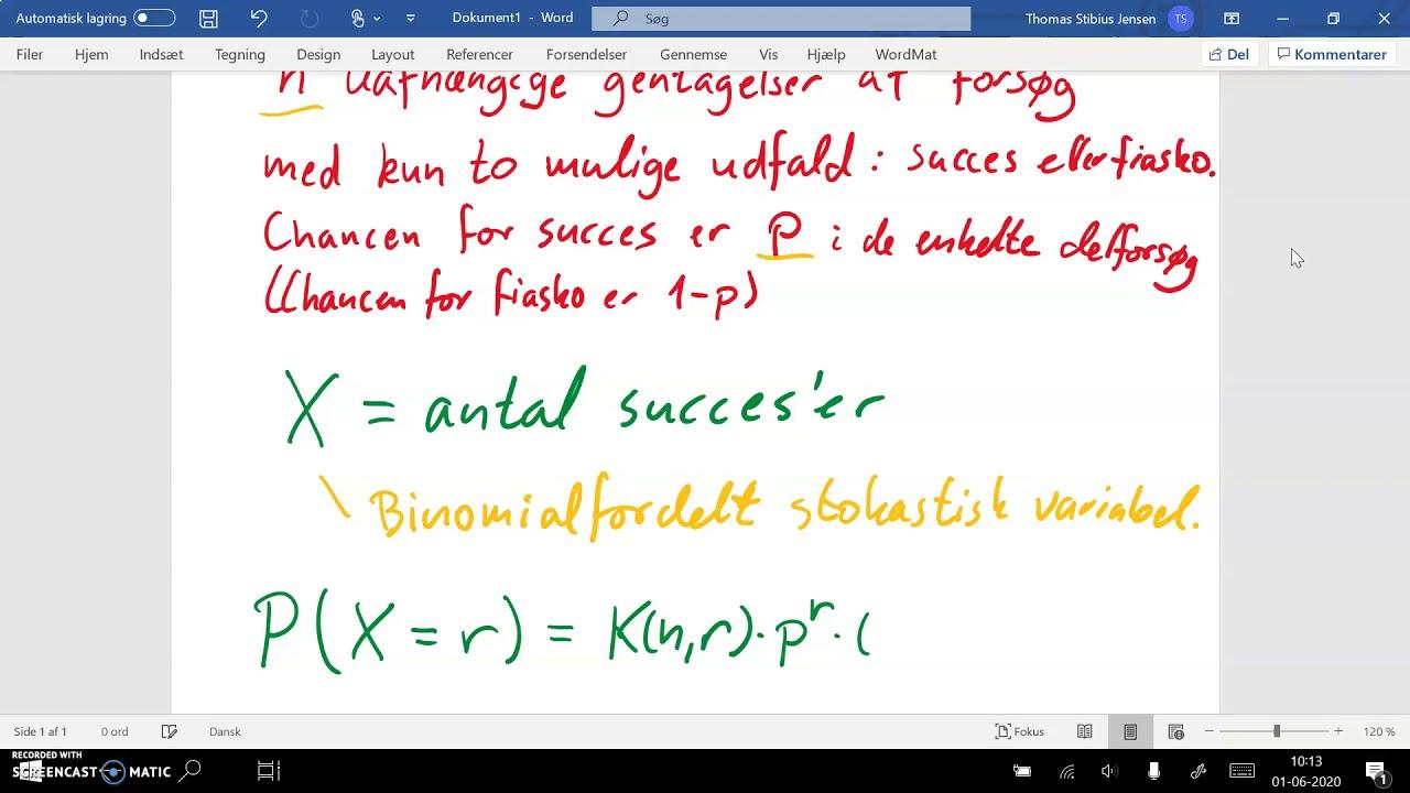 spg11 del1 binomialfordeling