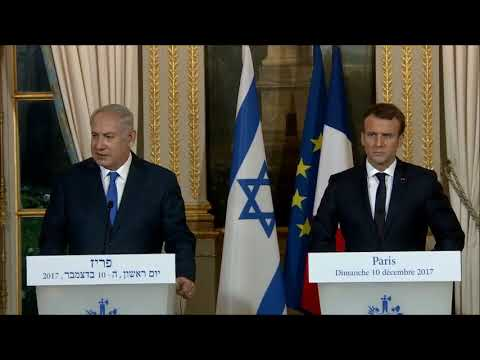Statements by PM of Israel  Benjamin Netanyahu and French President Emmanuel  Macron in Paris