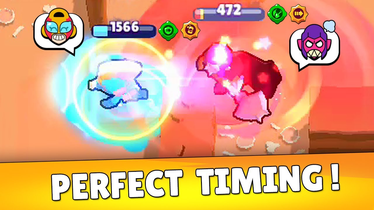 0.1 seconds Perfect Timing in Brawl Stars! Funny Moments & Fails