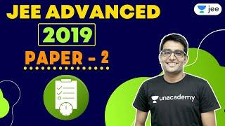 JEE Advanced 2019 Paper 2   Unacademy JEE   IIT JEE Chemistry   Ashwani Tyagi