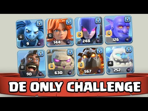 ONLY Dark Elixir TROOPS CHALLENGE! Too Much LOOT In Clash Of Clans! CoC Lets Play!