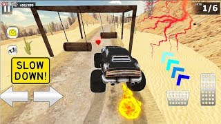 """Monster Truck Games """"Black Monster"""" 4x4 Offroad Stunt Race - Android Gameplay FHD #4"""