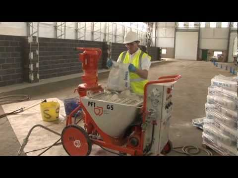 PFT and Knauf - the plaster race: Projection plastering vs. manual plastering
