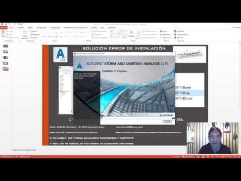 Solución al Error 1722 y 1311 de Instalación de Storm & Sanitary en Autodesk 3D CIVIL 2017
