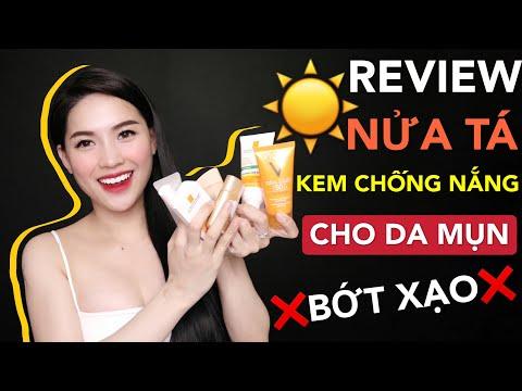 REVIEW CHÂN THẬT TOP 6 KEM CHỐNG NẮNG CHO DA MỤN | Ha Linh Official