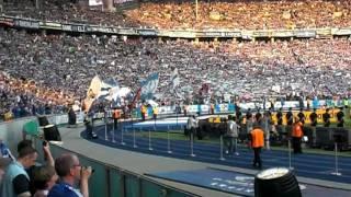 Königsblauer S04 beim Pokalfinale 2011 Schalke 04 gegen Duisburg