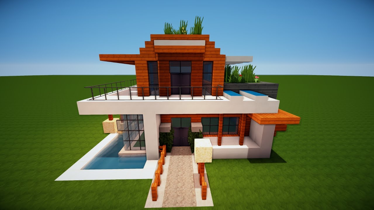 Minecraft modernes haus bauen tutorial haus 50 youtube for Minecraft modernes haus 20x20