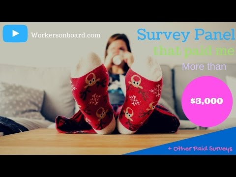 Survey Panel that Paid more than $3,000 + Other Paid Surveys