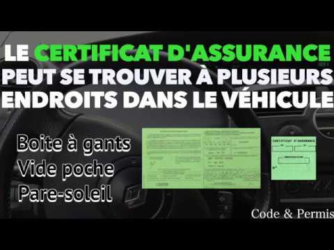 ATTESTATION D'ASSURANCE - VÉRIFICATIONS INTÉRIEURES 2018 - Code & Permis