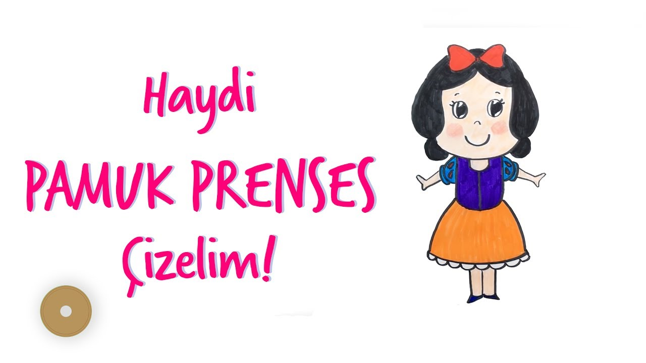Pamuk Prenses Nasıl çizilir How To Draw Snow White So Cute