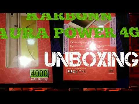 AURA POWER 4G KARBONN UNBOXING 【4000mAh】GOLD