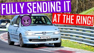 Zapętlaj How Fast Can a 170bhp 306 GTi6 Lap The Nurburgring BTG?! | Camber and Combustion